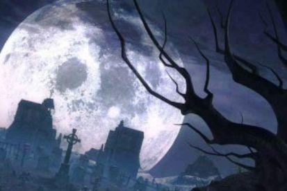 кладбище и луна