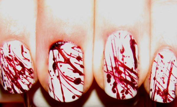 Фото кровь и ногти