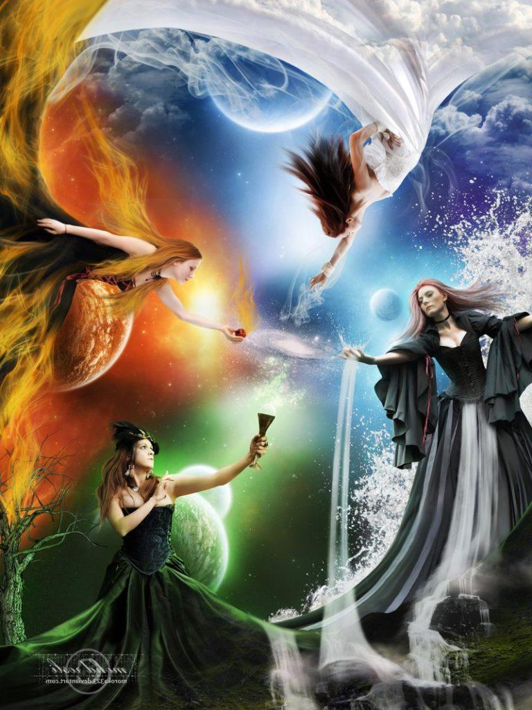 пять женский стихий