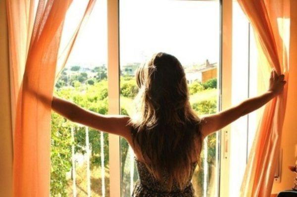 утро за окном