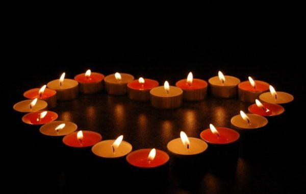 Сердце из свечь