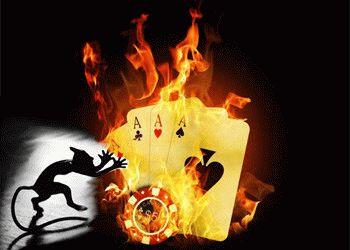 чертик и горящие карты