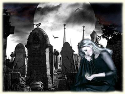 кладбище и девушка