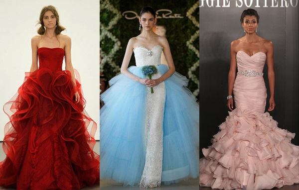 разноцветные платья