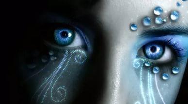глаз и вода