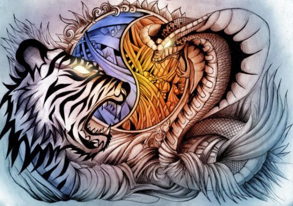 Тигр - Змея