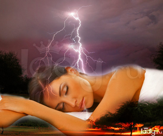 молния снится женщине